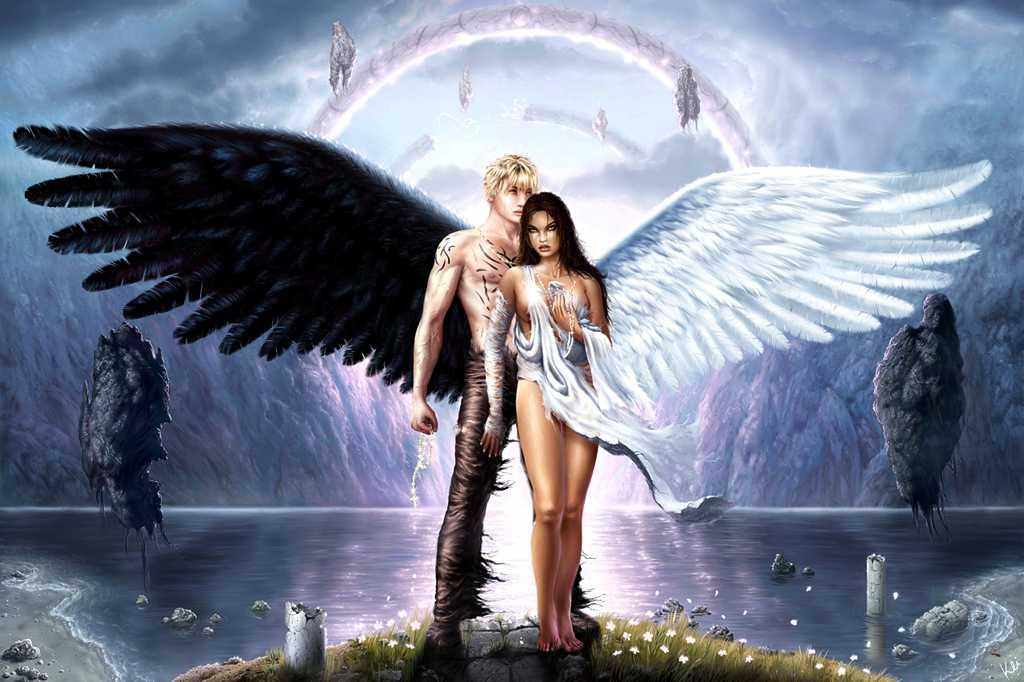Ангел и демон занимаются сексом